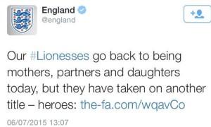 FA Tweet - Eng Women